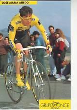 CYCLISME carte  cycliste JOSE MARIA AHEDO équipe ONCE 1993