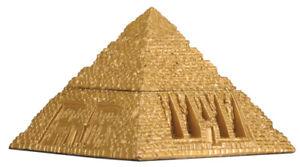 Ancient Egyptian Pyramid Gold Jewelry Trinket Box