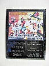 Washington Redskins 3x Super Bowl Champs statistics plaque -New Lower Pricing!!