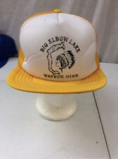 trucker hat baseball cap Vintage Mesh Snap Back BIG ELBOW LAKE WAUBUN MINNESOTA