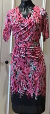 Boden UK Dress 14 R Pink Ruched Detail Short Sleeve As New