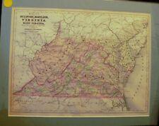 1823 WV MAP POCAHONTAS GRANT LOGAN COUNTY West Virginia History ITS BIG