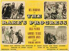 RAKE'S PROGRESS 1945 Rex Harrison, Lilli Palmer - FELIKS TOPOLSKI UK QUAD POSTER