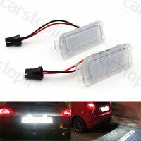 Pair LED License Plate Light White Lamp for Ford Fiesta Escape Explorer Fusion