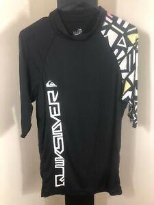 Quiksilver Black Rashie - Medium - Unisex Surf/Beach Wear - Free Post