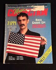 1985 FRANK ZAPPA FORGOT TO FREAK OUT? LOS ANGELES MUSIC TRADE CONNECTION ZINE