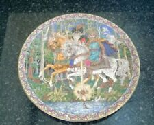 Royal Worcester Myths And Legends King Arthur China Plate Designer Sue Scullard