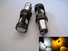 2x 1157 Samsung 3030 SMD Super high power LED White Yellow Switchback