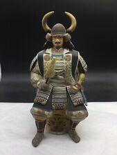 Hakata Urasaki Sitting Samurai Hand Painted Japanese Figurine Vintage Doll Clay