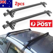 2pc Universal Roof Rack Overhead Side Rails Bars Luggage Carrier Aluminium Alloy