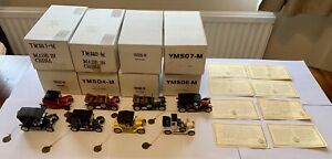 Matchbox Models of Yesteryear 40th Anniversary Collection YMS01-08 VGC Certs
