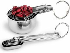 Acutos 13-Piece STAINLESS STEEL Measuring CUPS and SPOONS – Premium Metal Set