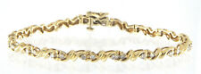 "Exquisite Fine Gold Diamond Tennis Bracelet 1.92 TCW 14k Yellow Gold 7.5"" Inch"