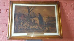 J F Herring's Hunt, Fox Hounds, 19th century Hunting Art, Antique Hunting Art,