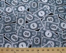 Monopoly Money Dollar Bills Mr. Monopoly Cotton Fabric Print by the Yard D584.11