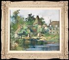 ROBERT FALCUCCI (1900-1989) LARGE SIGNED FRENCH OIL CANVAS - CHATEAU FOUGEROLLES