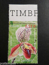 FRANCE 2005, timbre 3763, FLEURS, ORCHIDEE, oblitéré, FLOWERS, VF used stamp