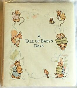 """""""A Tale Of Baby's Days"""" Beatrix Potter Multo-O Ring Baby Album Book Gibson NEW"""