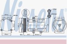 Kompressor Klimaanlage - Nissens 89068