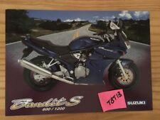 Suzuki 600 1200 Bandit S advertising motorrad brochure prospectus in english