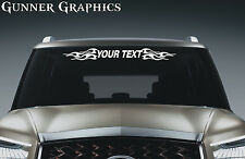 Ford F350 custom windshield decal graphic flames skulls