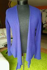 Philosophy D.Lewis Blue purple 100% cashmere light wrap/cardigan sweater sz M, L
