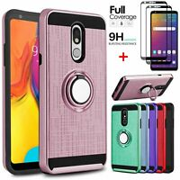 For LG Stylo 5/Stylo 4 Shockproof Hybrid Stand Phone Case+Full Screen Protector