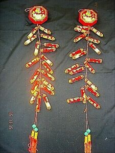 2 ARTIFICIAL CHINESE XXL 115cm RED FIRECRACKERS WEDDING BIRTHDAY NEW YEAR PARTY
