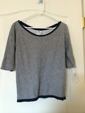 NWT$125 Lacoste Gray Ladies Sweatshirt Sweater Top Shirt Size 0 32 NEW