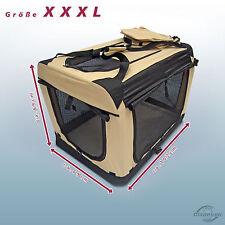 Faltbare Hunde Transportbox Auto Hundebox Box Größe XXXL Beige-Schwarz Hund Box