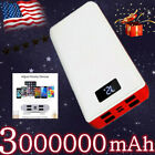3000000mAh Power Bank 4USB Fast Charging External Battery Pack Portable Charger