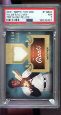 2011 Topps Tier One 1 Top Shelf Relics Willie McCovey Jersey Baseball Graded PSA