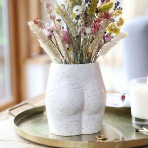 Ceramic Speckled Bum Vase
