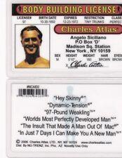 Body Bulider CHARLES ATLAS bodybuilder GYM RAT  Drivers License fake id card