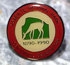 Yosemite National Park Centennial FUJI FILM RARE TYPO lapel/hat pin 1890-1990