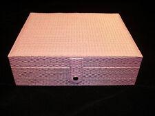 LILAC MODERN EARRING BEAD STORAGE JEWELLERY BRACELET WATCH CASE BOX FAUX LEATHER