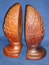 "Pair of 8"" Pineapple Bookends by Sadek"
