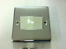 Crabtree 6017/SC 6A TP  Fan Isolator Control Switch Satin / Brushed Chrome