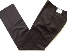 New Ralph Lauren Polo Italy Made 100% Wool Dark Brown Preston Pants 30 Reg