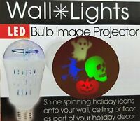 Halloween Party Light Bulb Projects & Spins Spooky Images on any surface Witch