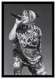 Billie Eilish Live Music Poster Print. NEW! Black & white. A3 size.