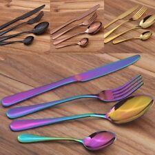 4 шт./комплект из нержавеющей стали столовые приборы позолоченные посуды нож вилка ложка комплект