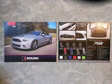 2014 Mustang RS V6 Roush Performance Model Facts Card New