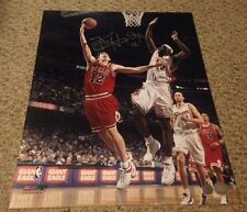 KIRK HINRICH BULLS Autographed Signed 16x20 Photo Schwartz Sports COA