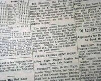 Very Early MICKEY MANTLE 1st Mention New York YANKEES Times 1950 Old Newspaper