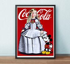 CARTEL DE - Antonio de Felipe - Menina Coca-Cola con Mickey - offset- 80X60CMS