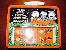 ITS THE GREAT PUMPKIN CHARLIE BROWN DOMINOES 2006 LUNCH BOX COLLECTABLE NEW