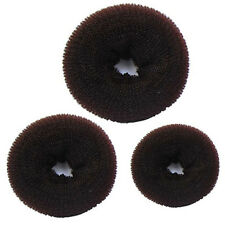 3 Pcs Sponge Women Girl Hair Bun Ring Donut Shaper Hair Styler Maker 3 Sizes UK