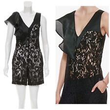 c6f9acafe3f ALEXIS Oscar Lace Romper XS Black Lace NWT Intermix Shopbop