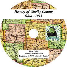 1913 History & Genealogy of Shelby County Ohio OH